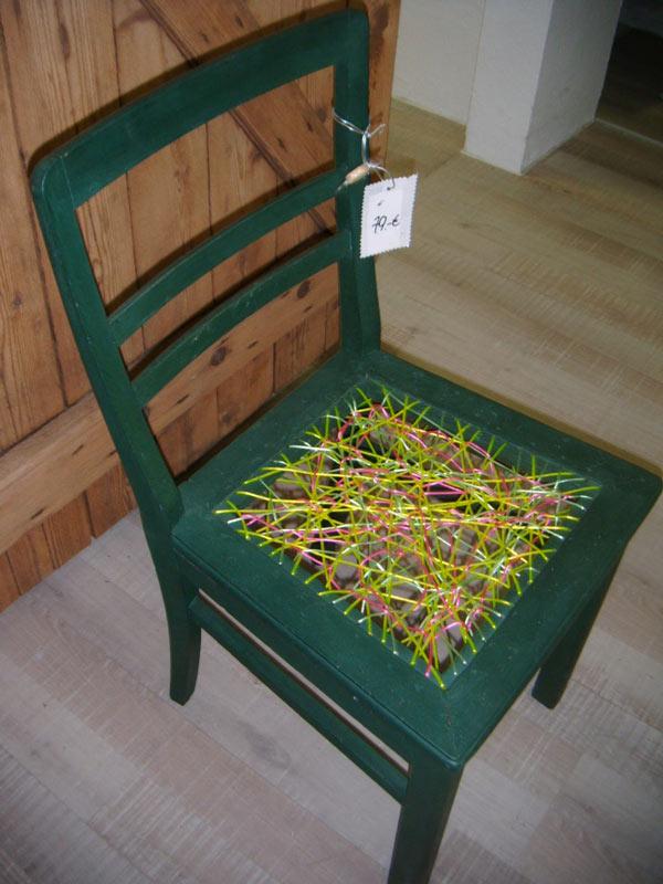 Vielle chaise récupérée.