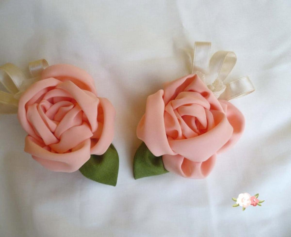 Roses en tissu style Shabby