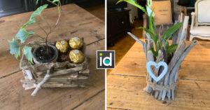 jardinière DIY avec du bois flotté