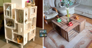 meubles originaux avec des caisses en bois