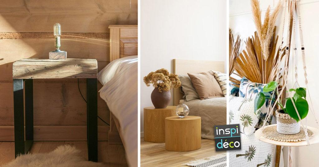 tables de chevet DIY pour une chambre à coucher design