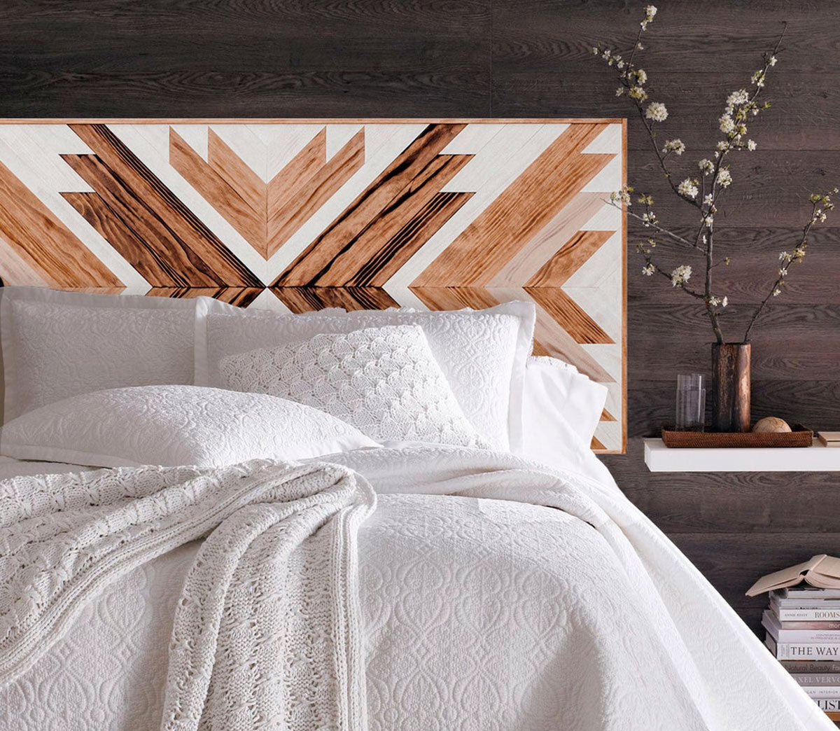 Têtes de lit créatives et originales en bois.