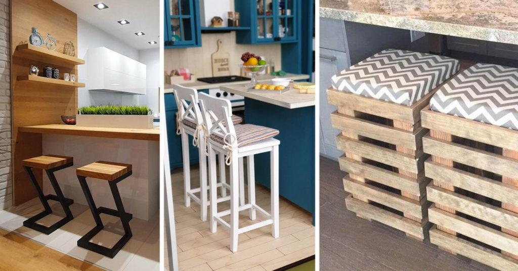 Tabourets originaux pour aménager la cuisine de manière créative