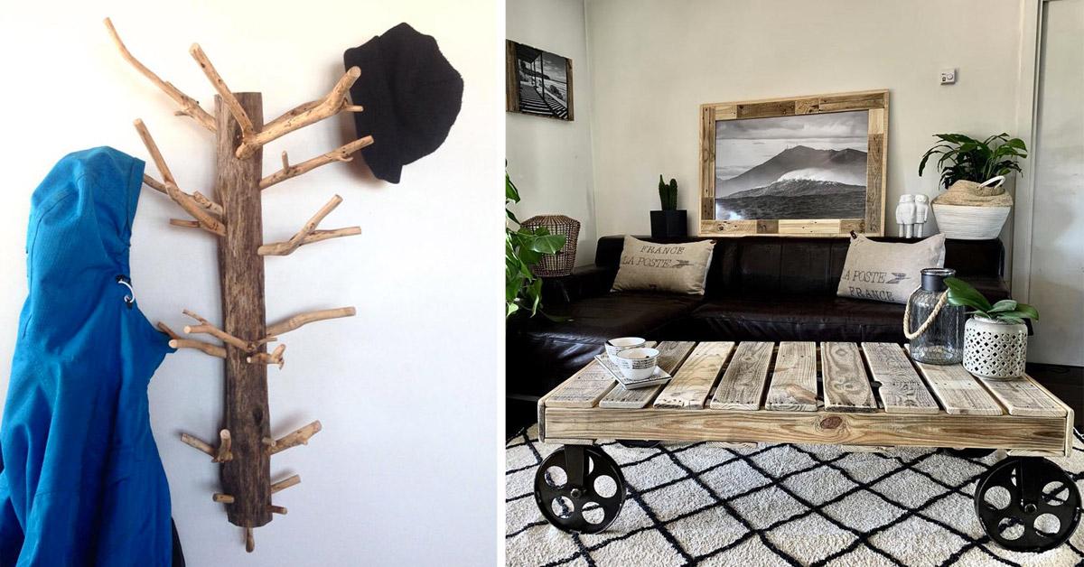 déco DIY en bois recyclé