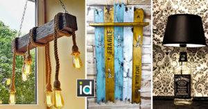 Objets déco DIY dans un style vintage avec de la récup