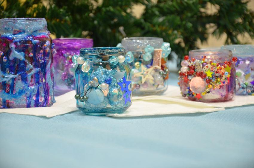 Déco Noël récup avec des bocaux en verre