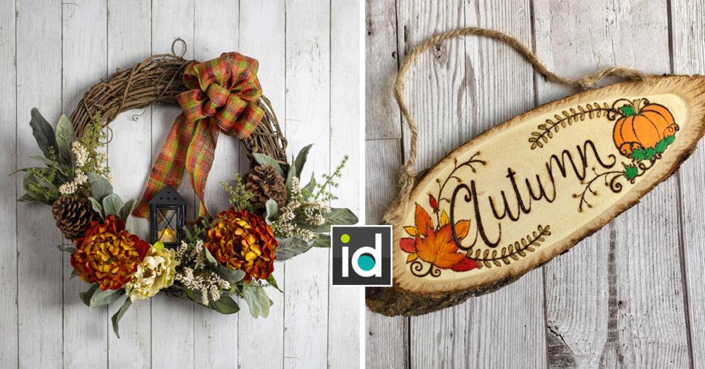 Décorations d'automne rustiques pour la maison.