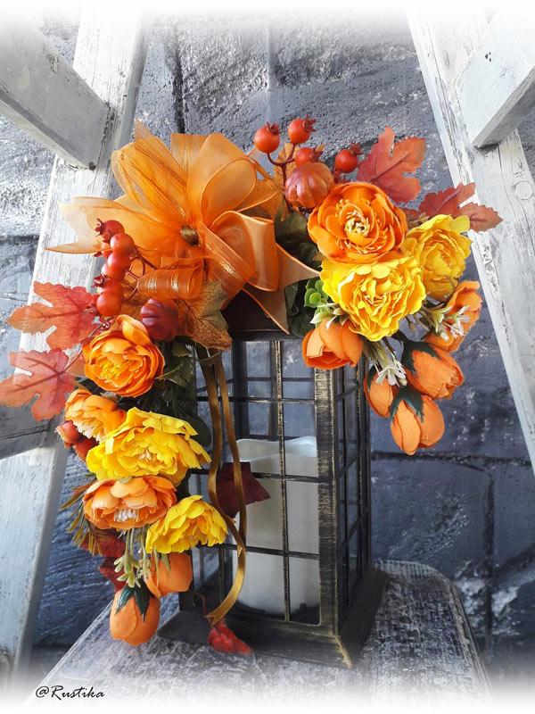 Belle lanterne pour décorer en automne.