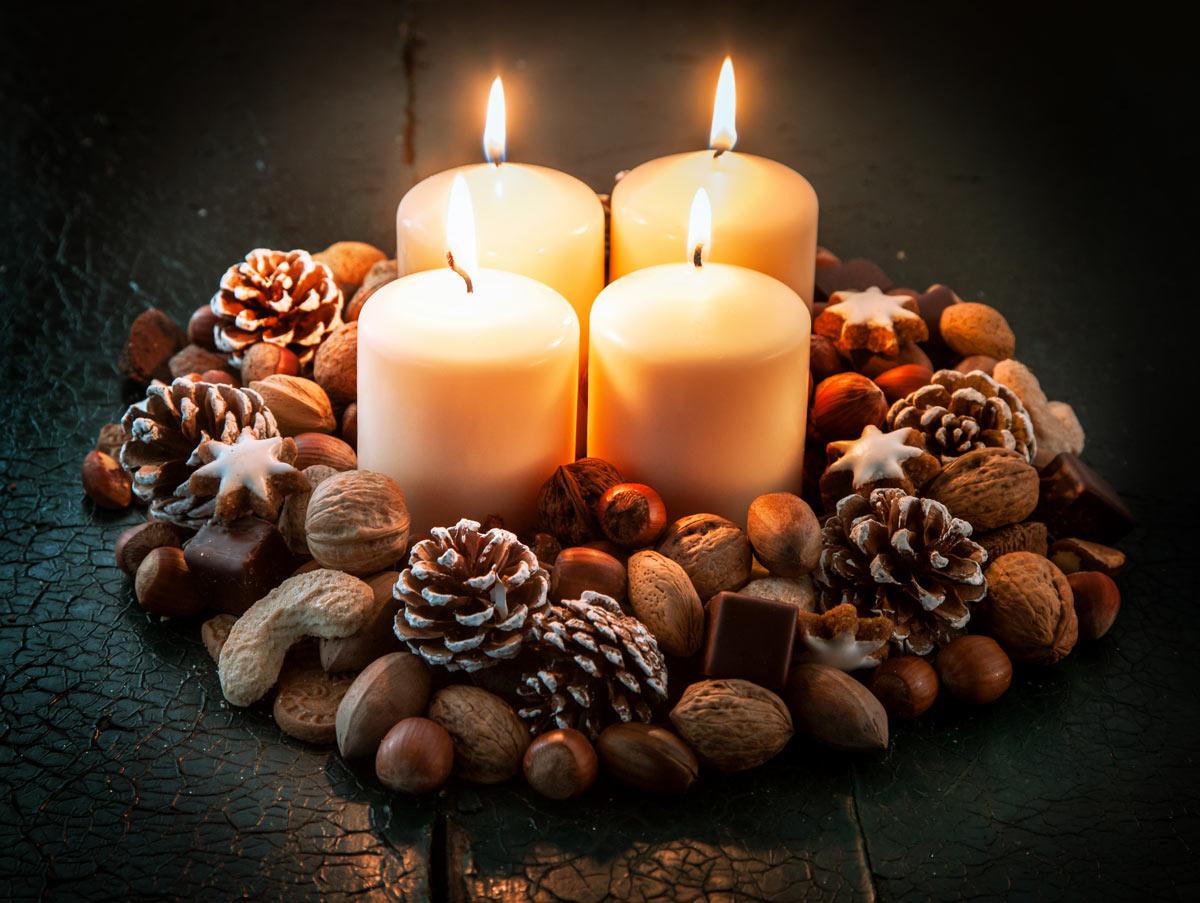 Décorations Noël à base d'éléments naturels