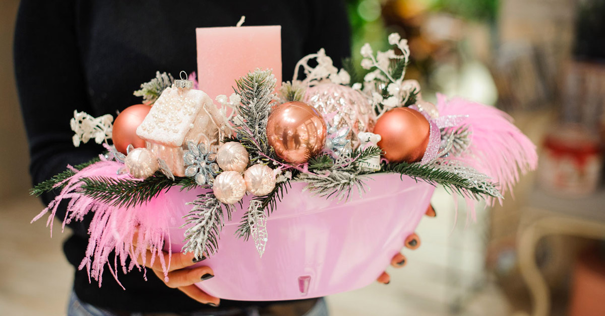 centre de table DIY pour Noël