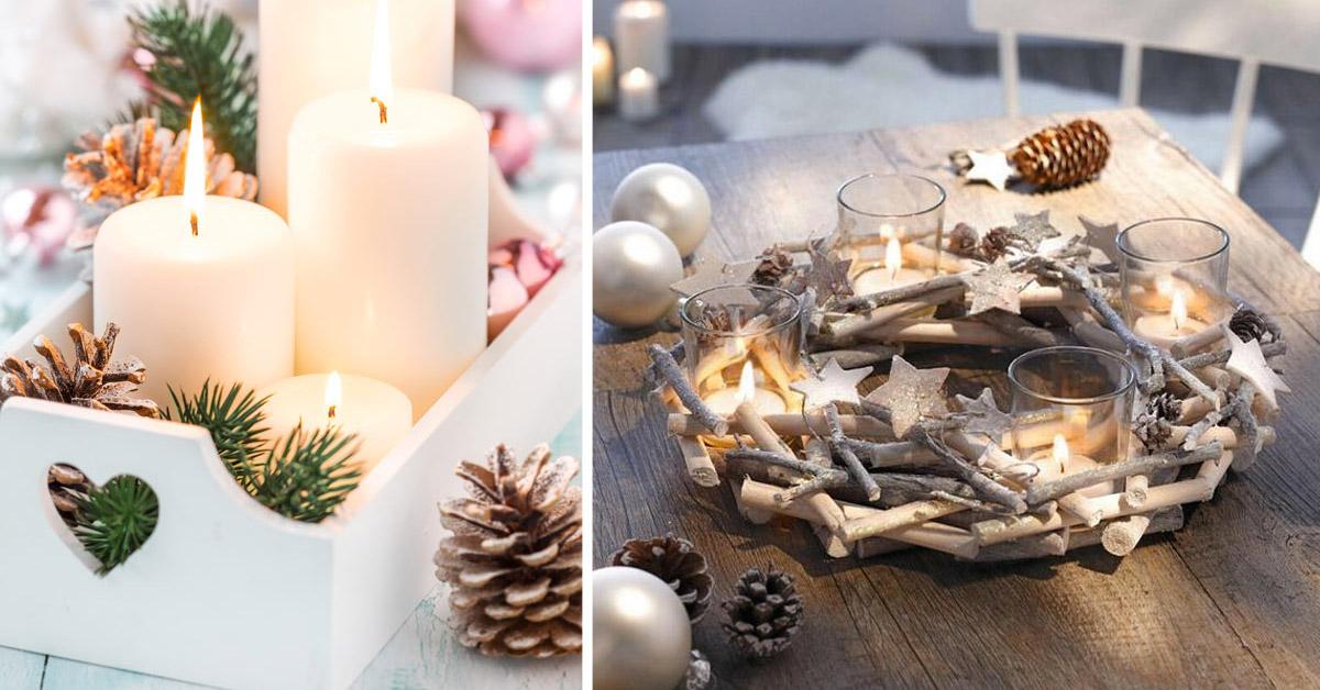 Un centre de table esprit shabby pour Noël