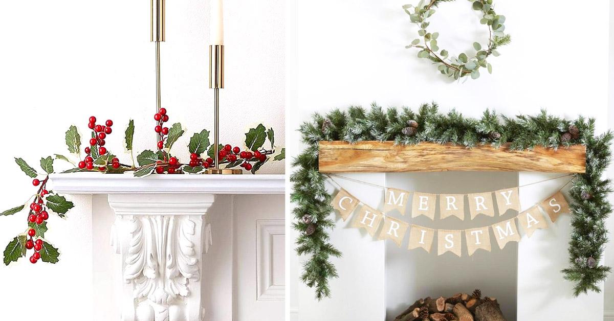 décorations cheminée pour Noël