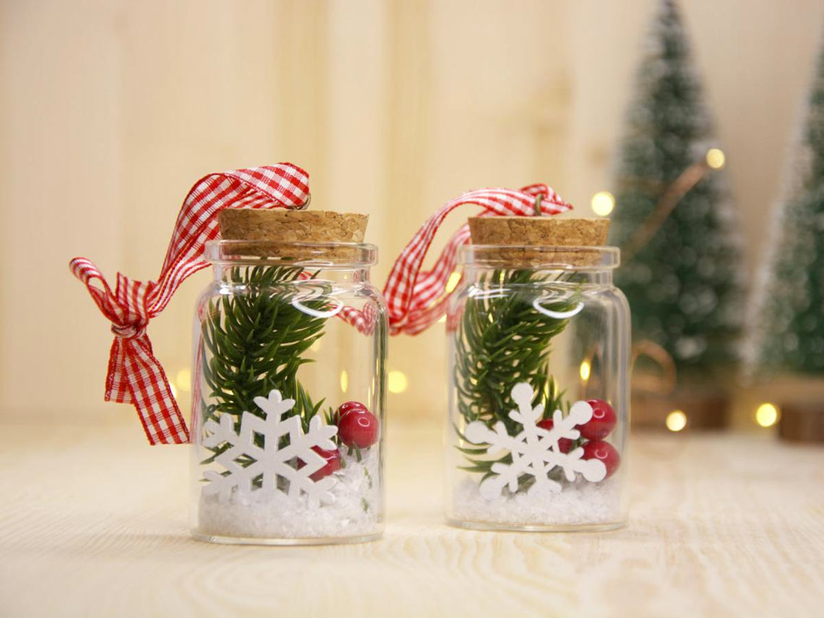 déco Noël avec des bocaux en verre
