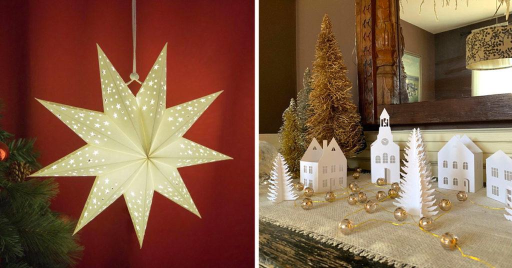 Idées de décorations Noël DIY en papier