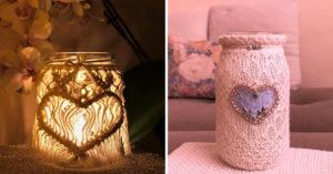 Lanterne DIY style shabby.