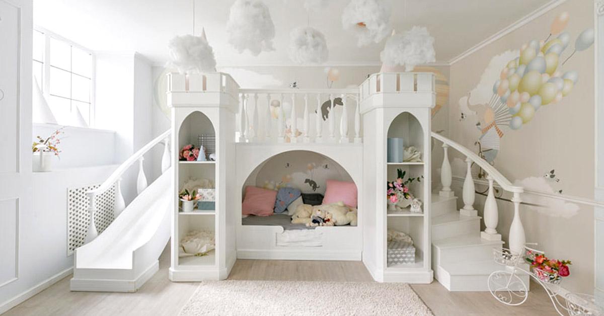 Un lit cottage pour la chambre d'enfant