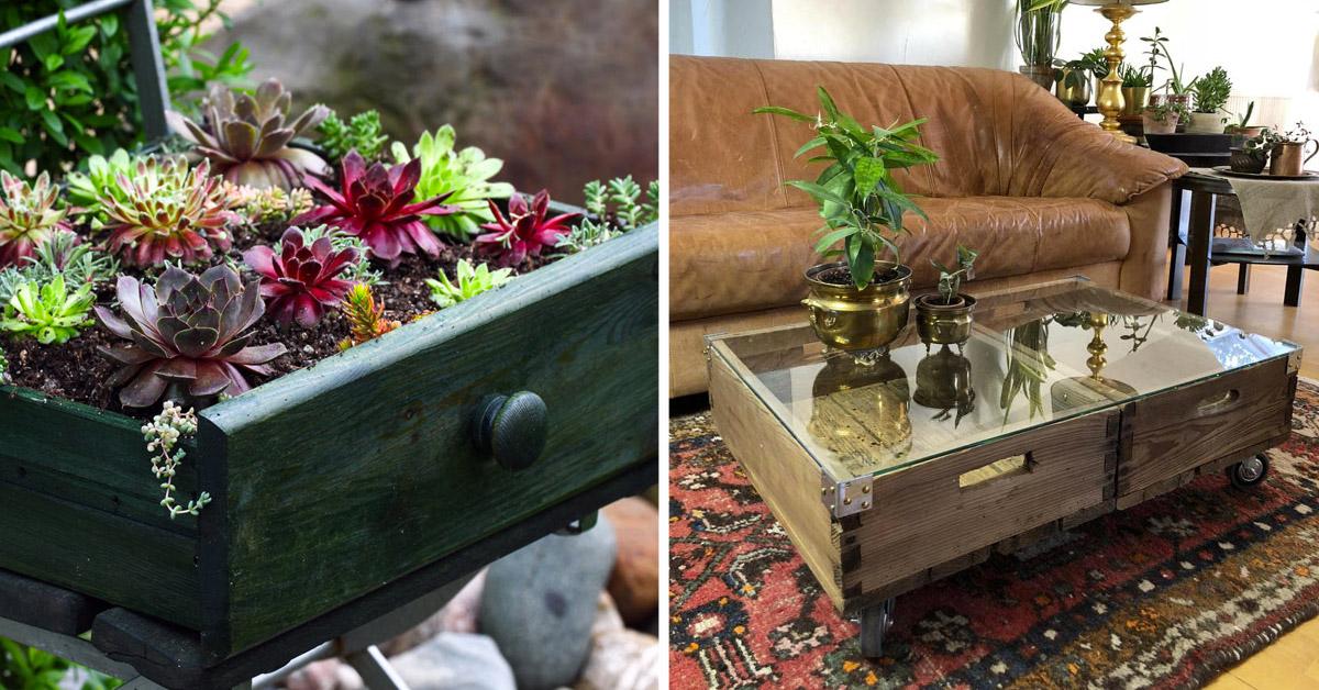 Récup créative de vieux tiroirs
