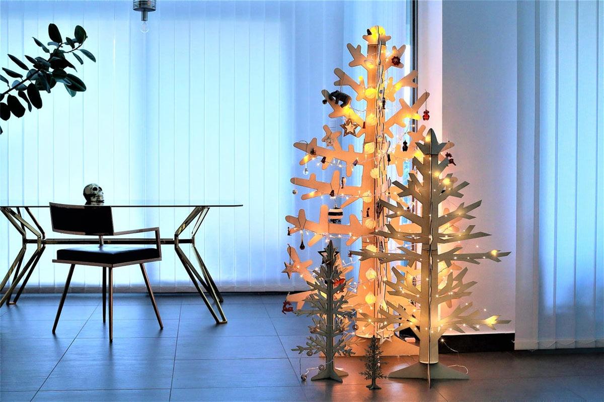 Un sapin de Noël DIY en bois