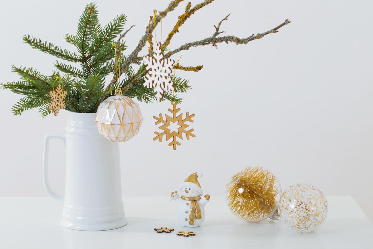 un petit vase déco à Noël