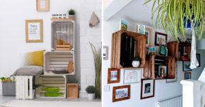 Décorer les murs avec des caisses en bois