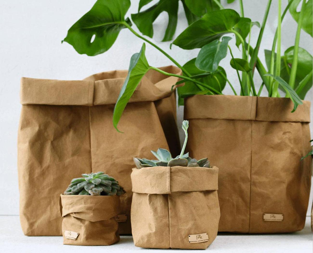 cachepot sac en papier