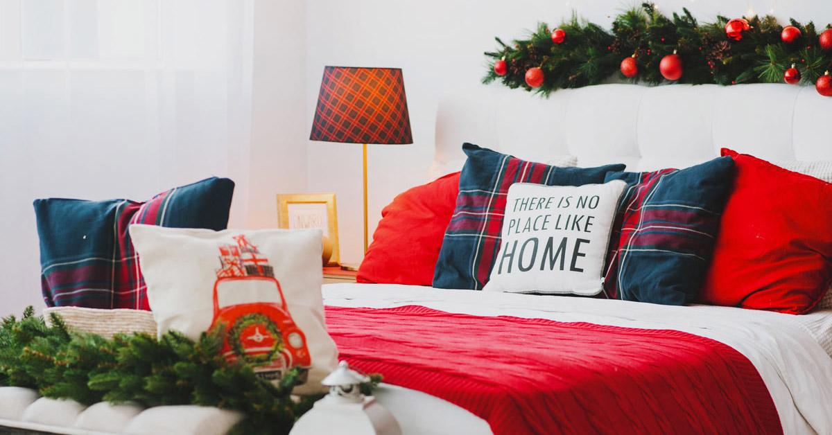 Décorations d'hiver chambre à coucher.