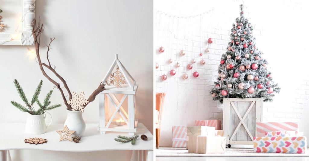 Décorations Noël style shabby
