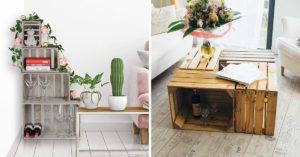 meuble DIY avec des caisses en bois