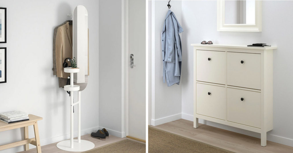 meubles entrée IKEA style scandinave.