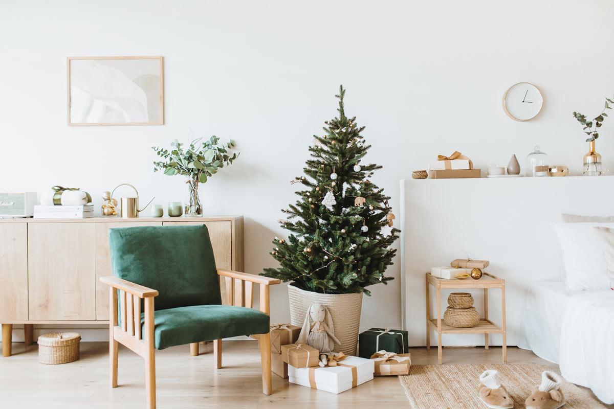 styles pour aménager le salon a Noël