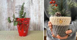 vase déco hiver