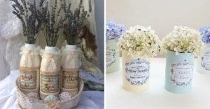 Vase style shabby récup