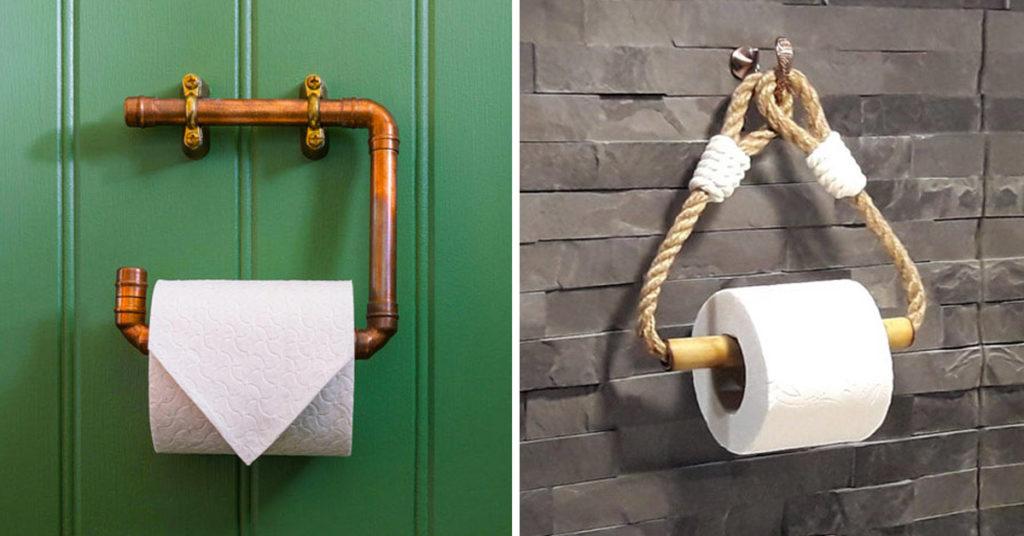 Porte rouleau papier toilette DIY