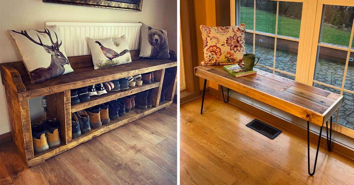 banc en bois DIY