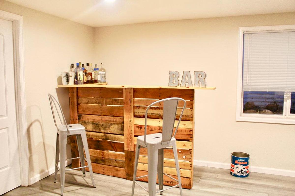 Un bar DIY en bois de palette  12 idées à copier de suite
