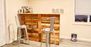 bar DIY en bois de palette