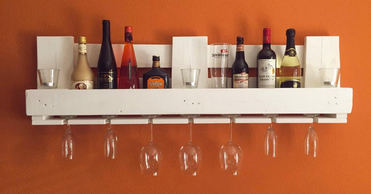 étagère à vin DIY avec palettes