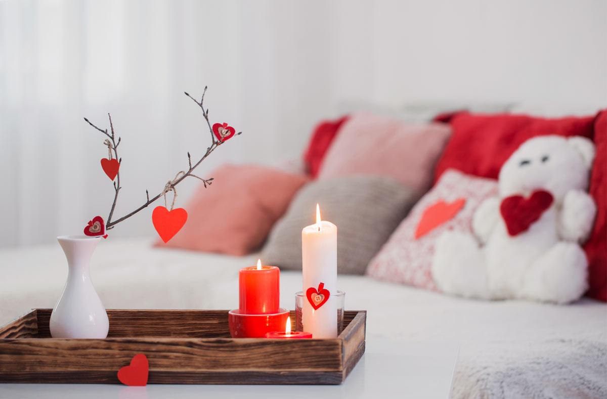 idées déco pour Sain Valentin à la maison