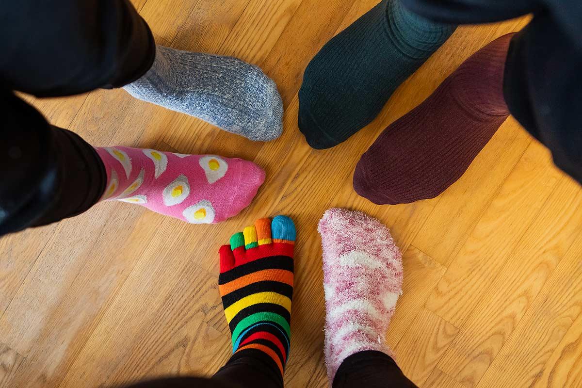 idees récup chaussettes