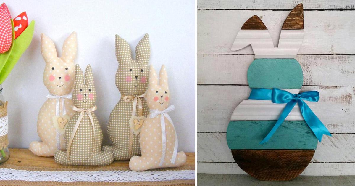 Lapins de Pâques DIY.