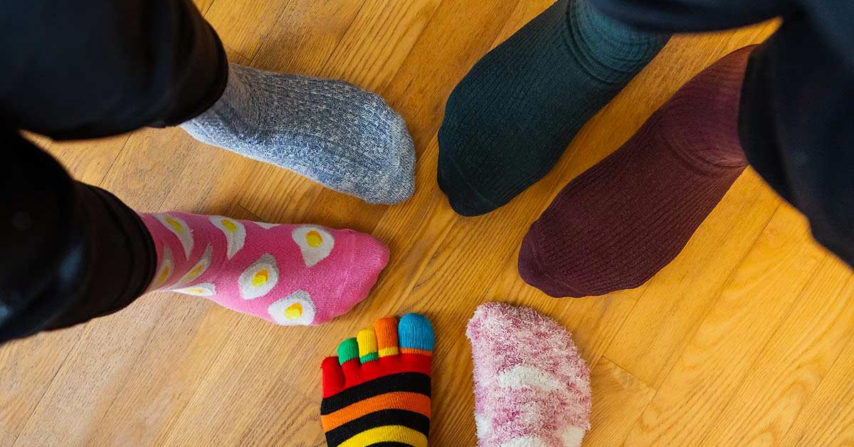 Recyclage chaussettes dépareillées