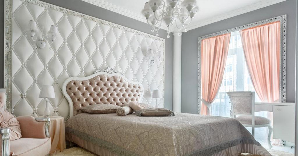 rideaux style shabby dans la chambre à coucher