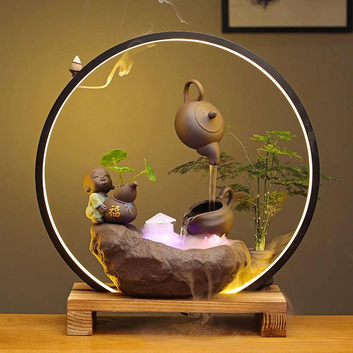 Fontaine d'intérieur zen.