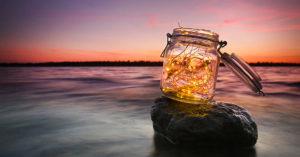 Recyclage bocal en verre.