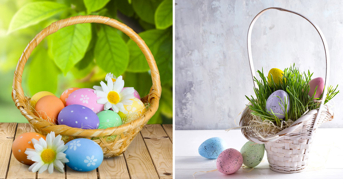 Le panier de Pâques.