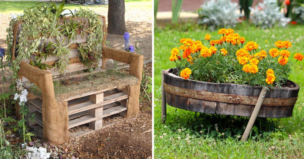 idées de recyclage jardin