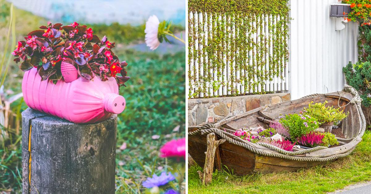Déco jardin recyclage.