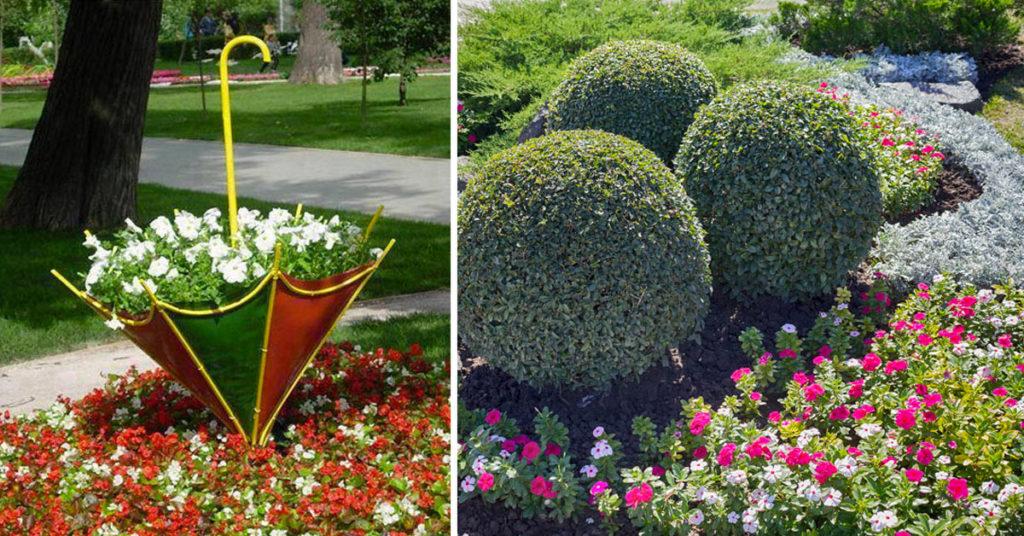 parterre de fleurs créatif jardin