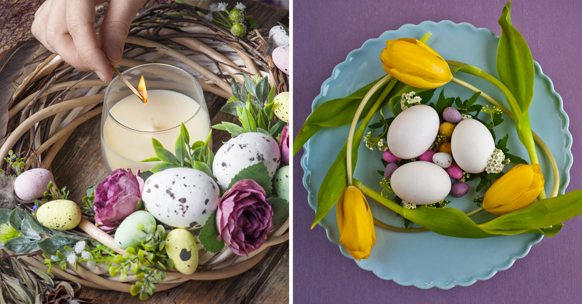 Centre de table DIY pour Pâques.