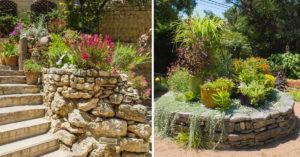 rocaille de fleurs jardin.